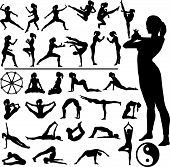 Fitness Women Martial Arts Yoga.