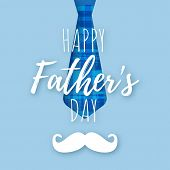 Vector Fathers Day Card Design poster