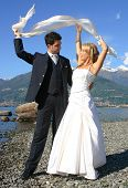 foto of married couple  - Series of Wedding pictures the couple just married - JPG