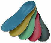 Orthotics - Custom Made Shoe Inserts Isolated On White. 3d Rendering poster