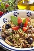 pic of yellowfin tuna  - Italian Fusilli pasta with swordfisholive and raw tomato - JPG