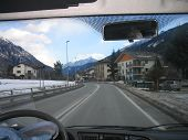 stock photo of speculum  - View from the car - JPG