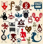 pic of ogre  - Many cute doodle monsters set - JPG