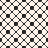 Geometric Seamless Pattern. Black And White Floral Ornamental Background, Repeat Tiles, Circular Flo poster