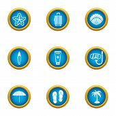 Adventure Journey Icons Set. Flat Set Of 9 Adventure Journey Vector Icons For Web Isolated On White  poster