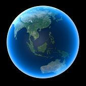 foto of planet earth  - Planet Earth featuring Asia Oceania Indian and Pacific Oceans