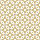 Vector Golden Ornament Pattern In Moroccan Style. White And Gold Elegant Floral Seamless Texture. Ab poster