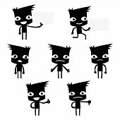 picture of sad man  - set of funny cartoon man in various poses for use in presentations - JPG