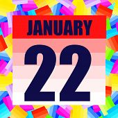 January 22 Icon. For Planning Important Day. Banner For Holidays And Special Days. Twenty Second Of  poster