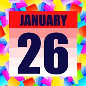 January 26 Icon. For Planning Important Day. Banner For Holidays And Special Days. January Twenty-si poster