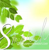 Vector International 8 March. 8 March In Beautiful Style On White Background. International Women Da poster