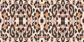 Black Cheetah Creative Vector Seamless Pattern. Dirt Dyed Panther Handmade Tiles Texture. Black Prin poster
