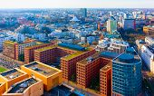 Aerial View On Modern Apartment Residential Building Architecture Potsdamer Platz Reflex poster