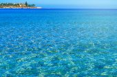 Modern Egyptian City. Seafront Hurghada. View Of Egyptian City Of Hurghada From Red Sea poster