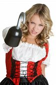 picture of wench  - beautiful young female model wearing pirate costume - JPG