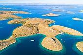 Kornati. Aerial View Of Famous Adriatic Sea Sailing Destination, Kornati Archipelago National Park.  poster