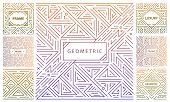 Vector Set Of Abstract Geometric Design Elements, Luxury Vintage Artdeco Decorations, Covers, Frames poster