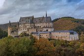 Vianden Castle, Luxembourgs Best Preserved Monument, One Of The Largest Fortified Castles West Of Th poster