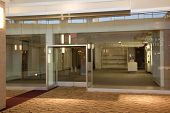 picture of shopping center  - Empty store at shopping center or mall - JPG
