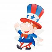 Cute Happy Uncle Sam