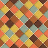 stock photo of swagger  - Retro style square vector seamless background - JPG