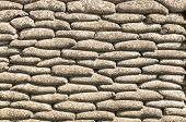 image of sandbag  - Background of sandbags in trench of death - JPG