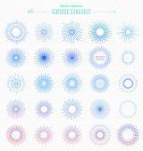 pic of geometric shapes  - Set of Vintage Sunbusrt - JPG