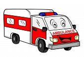 picture of ambulance car  - Ambulance car Editable  - JPG