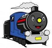 picture of train-wheel  - Train cartoon Editable  - JPG
