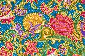 foto of batik  - The Traditional batik sarong pattern background style - JPG