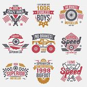 picture of bigfoot  - Emblems retro vintage race and super cars - JPG