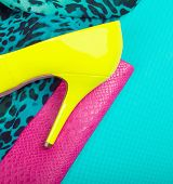 pic of stilettos  - Neon high heel - JPG