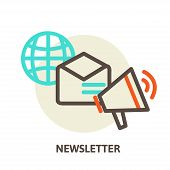 foto of newsletter  - Vector email marketing concepts  - JPG