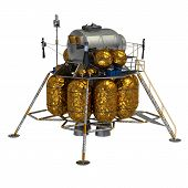 image of ares  - Space Lander On A White Background - JPG
