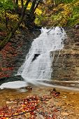 foto of buttermilk  - Beautiful Buttermilk Falls a waterfall in Ohio - JPG