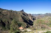 stock photo of canary  - Rock Nublo in the centre of Gran Canaria Canary islands Spain - JPG