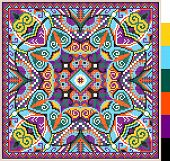 foto of stitches  - geometric square pattern for cross stitch ukrainian traditional embroidery - JPG