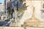 Постер, плакат: Dragon Fountain In The Dutch City Of Den Bosch