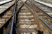 picture of boxcar  - Rail switches in yard off main line - JPG