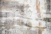picture of old stone fence  - Old gray concrete wall closeup background photo texture - JPG