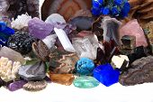 foto of gem  - color minerals and gems collection as natural background - JPG