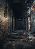 stock photo of abandoned house  - Interior of an abandoned house - JPG