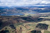 image of lowlands  - Aerial photo taken during a flight over the lowlands of scottland in February - JPG