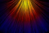 stock photo of end rainbow  - In optical fibers occurs colored light at the end - JPG