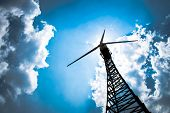 image of wind-vane  - The wind turbine generator the renewable energy - JPG