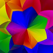 pic of surreal  - Artistic vibrant flower shape - JPG