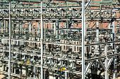 picture of substation  - Outdoor electrical substation in a sunny day - JPG