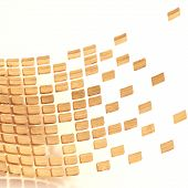 pic of bent over  - Abstract composition made of multiple wooden tiles over the white background - JPG