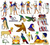 stock photo of horus  - Vector illustration - various themes of ancient Egypt: 