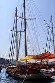 stock photo of marina  - MUGLA TURKEY  - JPG